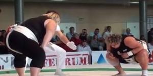 ヨーロッパの女相撲