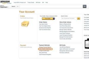 アメリカのアマゾンカード情報登録
