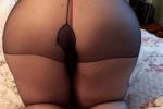 巨尻女のパンスト画像!汗やHな匂いが染み込んでいそうでエロい。