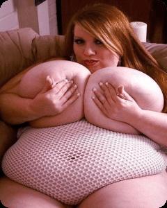超乳デブ白人