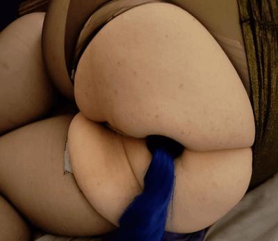 巨尻おデブちゃんのアナルプレイ