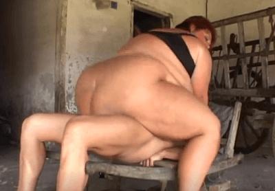 長身デブおばさんのセックス